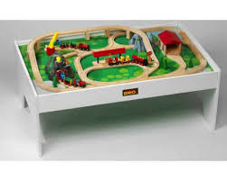 wooden train set table de modeler cool brio wooden railway system train table