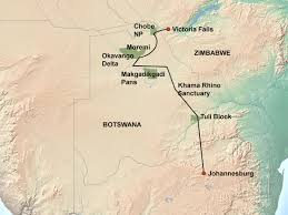 Victoria Falls Map Botswana Untouched Lodge Safari 13 Days Jenman African Safaris