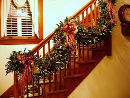Handrail Christmas Decorations Christmas Garland Ideas Christmas Celebrations