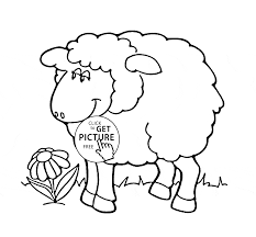 cute sheep coloring page for kids animal coloring pages