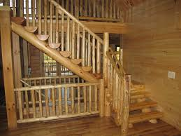 Wooden Banister Rails Log Stairs And Custom Railings By Appalachian Designs