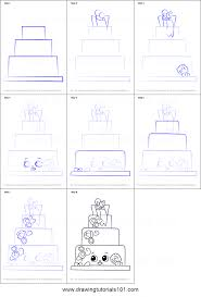 how to draw wendy wedding cake from shopkins printable step by