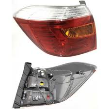 tail light lens assembly toyota highlander tail light at monster auto parts