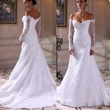 Off The Shoulder Wedding Dresses Off The Shoulder Lace Arabic Mermaid Wedding Dress 2016 Vintage