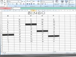 How To Do Excel Spreadsheets How To Make A Bingo Game In Microsoft Office Excel 2007 9 Steps