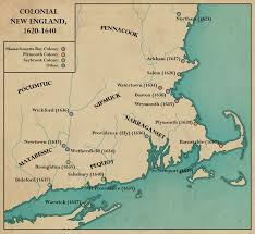 Map Of New England Colonies by New England Settlements Thinglink