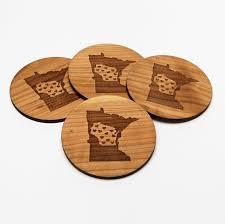 wooden drink coaster create laser arts gather art registry