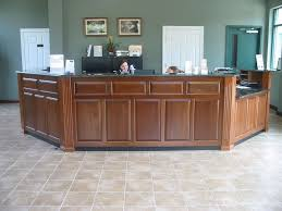 Custom Made Reception Desk Hand Crafted Caster Reception Desk By Brassfield Custom Woodworks