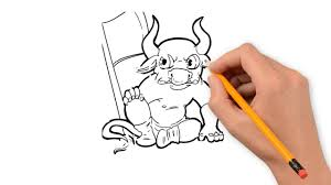 how to draw thanksgiving minotaur pencil things to draw step by step youtube