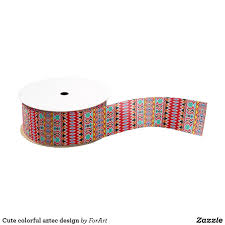 aztec ribbon colorful aztec design grosgrain ribbon aztec designs