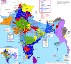 South Asia Political Map by The Political Divisions Of South Asia In 1947 1621x1429 Mapporn