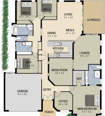 Floor Plan For A Four Bedroom House Home Design Ideas - Four bedroom house design