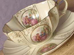 lefton china pattern vintage fragonard teacup and saucer lefton teacup porcelain tea