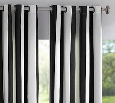 Black And White Stripe Curtains Grommet Drapes Pottery Barn