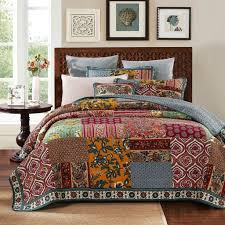 Difference Between Coverlet And Quilt Dada Bedding Dark Elegance Bohemian Burgundy Floral Patchwork Quilted