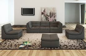 Modular Sectional Sofa with Lego Modular Sectional Sofa 6pc Set In Grey Leather By J U0026m