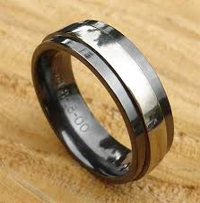 mens black wedding ring in a finish online in the uk