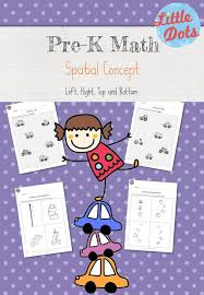 pre k spatial concepts worksheets and activities little dots