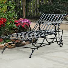 Outdoor Chaise Lounges Shop International Caravan Wrought Iron Patio Chaise Lounge Chair