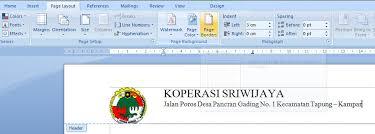 membuat kop surat organisasi puce cara membuat kop surat di ms word 2007