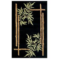 home decorators collection bamboo black 2 ft 6 in x 4 ft 6 in