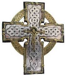 celtic crucifix celtic cross with gilded crucifix rosarycard net