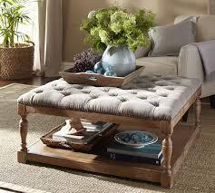 coffee table modern living upholstered ottoman coffee table