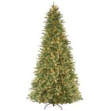 national tree company 12 ft pre lit dunhill fir hinged artificial