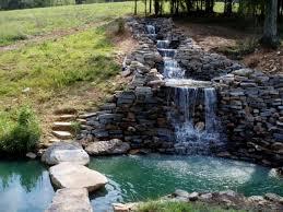 backyard waterfalls ideas home outdoor decoration