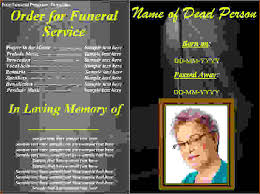 template for funeral program 7 free funeral program template downloadagenda template sle