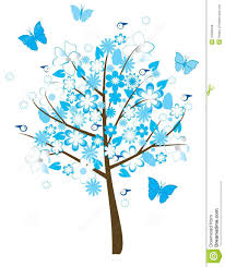 floral tree stock vector image of forest landscape 10369248