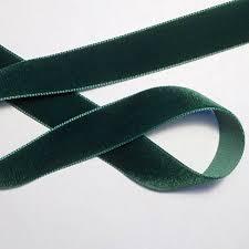 velvet ribbon green velvet ribbon 7 8 1 2 yard renaissance fabrics