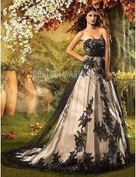 robe de mari e gothique white and black taffeta and lace wedding dress