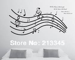 music note home decor fundecor music is my everything music notes decorations stickers