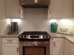 interior cool kitchen decoration with backsplash behind stove