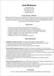 Automotive Technician Resume Examples by Automotive Technician And Mechanic Resume Example Eager World