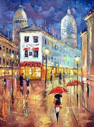 Fine Art Lighting Fixtures by Original Fineart Impressionism Art Wall Art Lights Of Paris