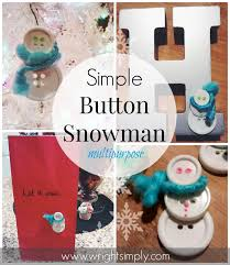 simply wright simple button snowman ornament more