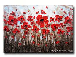 Home Decor Appleton Wi by Abstract Red Poppy Painting Modern Art Home Decor Textured Palette