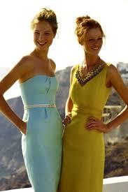 light blue dresses yellow dresses