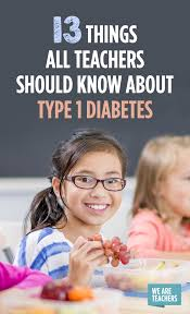 13 things all teachers should know about type 1 diabetes