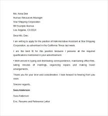 cover letter for administrative assistant cover letter for job