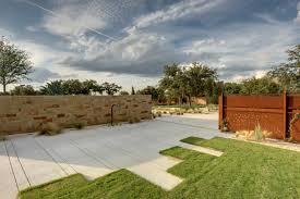 design ideas concrete driveway ideas for modern landscape with