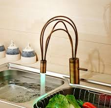 creative design rotation led color changing kitchen sink faucet
