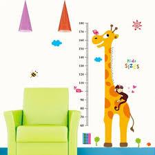 giraffe growth height chart wall sticker easy to peel and stick giraffe growth height chart wall sticker