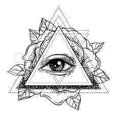 rosicrucianism symbol blackwork flash all seeing eye