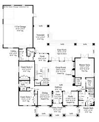 House Plans With Three Car Garage Home Plan Glenfield Sater Design Collection