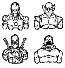 marvel ous sketches on behance