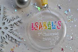 Baby S First Christmas Bauble M S personalised christmas bauble babys first christmas