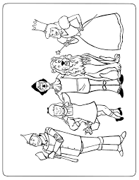 4 coloriages du magicien d u0027oz à imprimer coloriage one